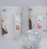 CARMANI - 1990 Coffee Cup Set - Porcelain - Fashionista - Tiger