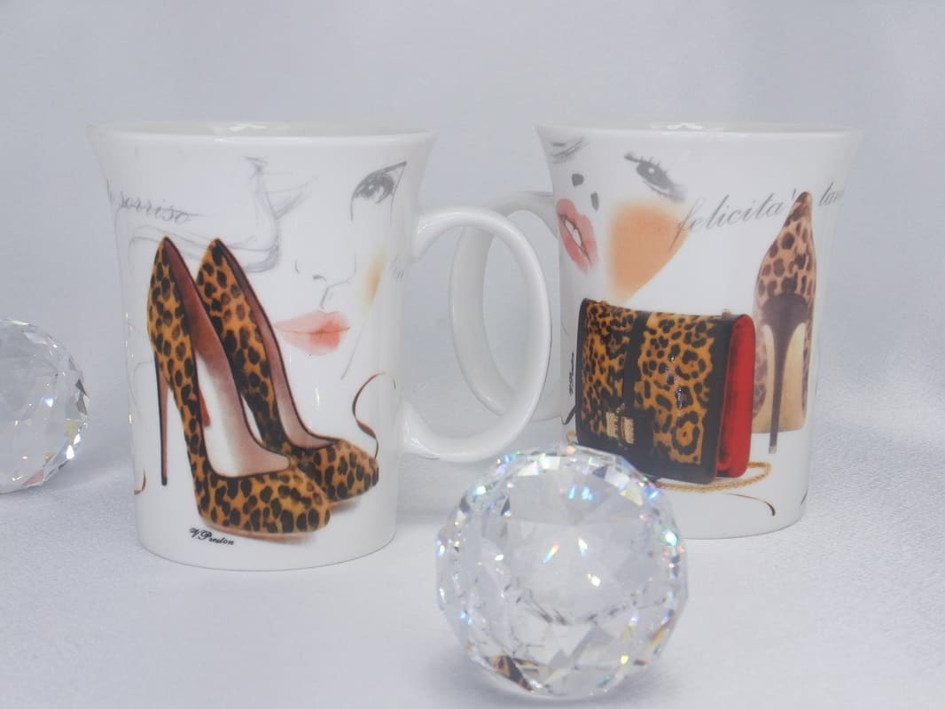 CARMANI - 1990 Kaffeetassen Set - Porzellan - Fashionista - Tiger