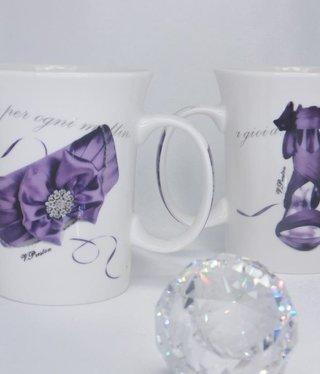 CARMANI - 1990 Kaffeetassen Set - Fashionista - Lilla