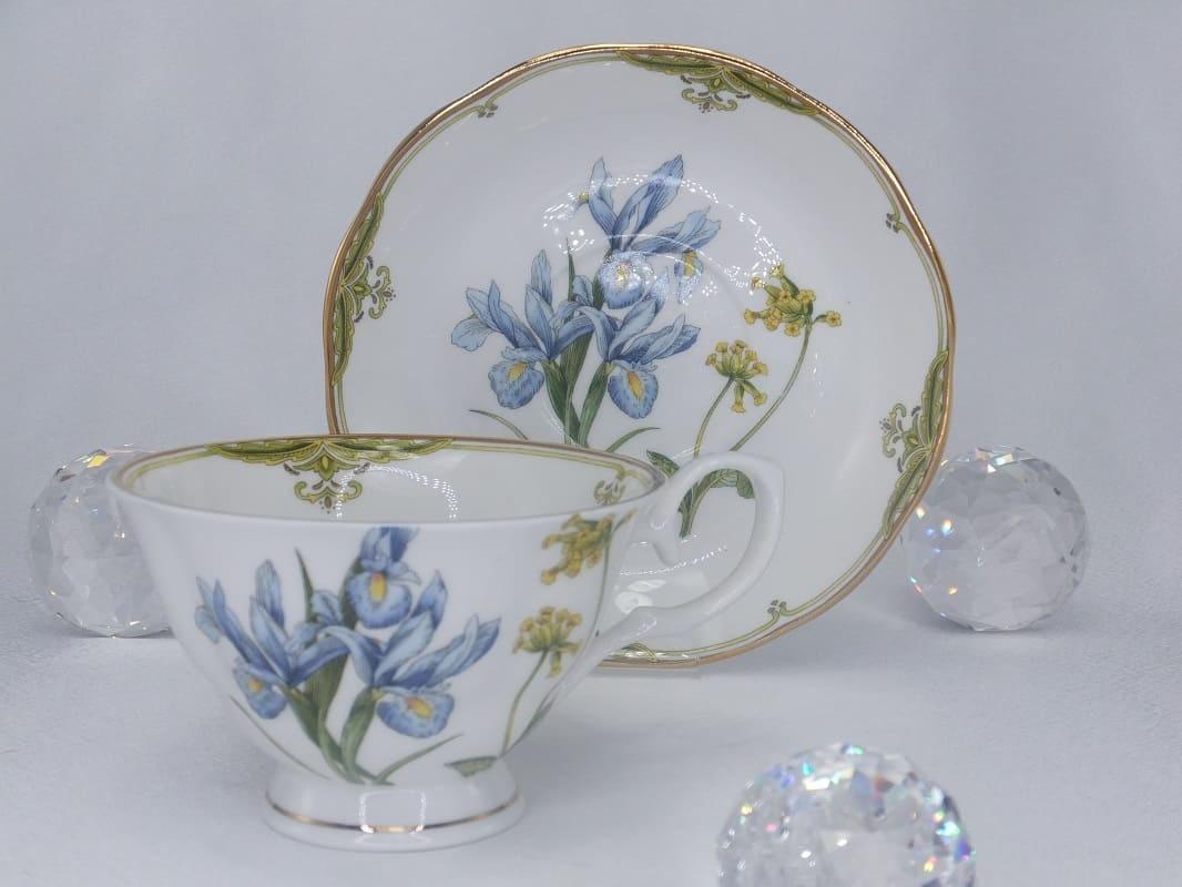 CARMANI - 1990 Teetassen Set - Fine Bone China - Irises
