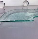 Tablett - S- formig - Bubbleglas 46 x 16 ,5 cm