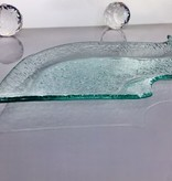 Tray - S-shaped - Bubble glass 46 x 16, 5 cm