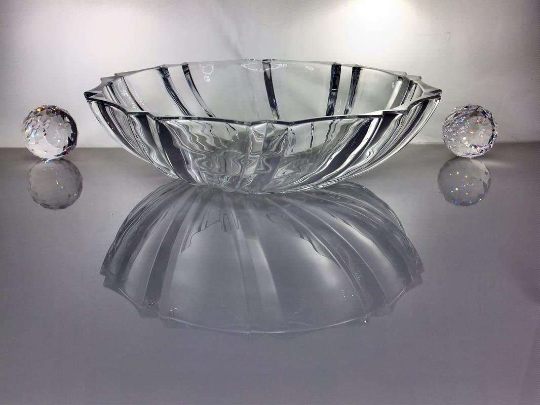 IRENA -  1924  Opulente  Servierschale  - Glasschale   mit Relief Muster