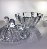 IRENA -  1924  Opulent glass bowl - pastry bowl with relief pattern