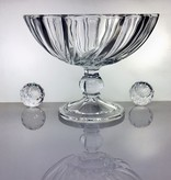 IRENA -  1924  Large glass bowl on foot with relief pattern
