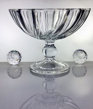IRENA -  1924  Glass bowl on foot - clear glass - large