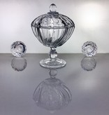 IRENA -  1924  Small glass Bonbonniere  with relief pattern