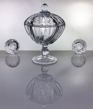 IRENA -  1924  Jardiniere - clear glass - small
