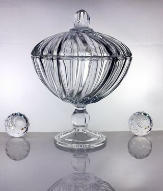 IRENA -  1924  Jardiniere - clear glass - large