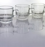 IRENA -  1924  Glass cup / coffee cups with 6 different decoration variants
