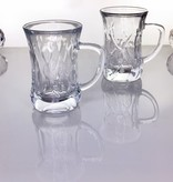 IRENA -  1924  Glass cup narrow in 4 different grinding variations
