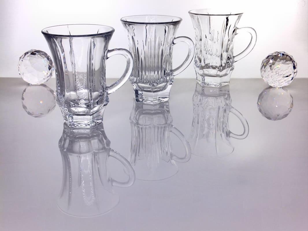 IRENA -  1924  Glastasse -Kaffeetasse mit Fuß  in 3 Ausführungen