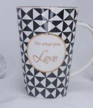 Coffee Cup - XXL Nero -White