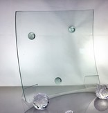 Glass plate clear glass 28.5 x 28.5 cm