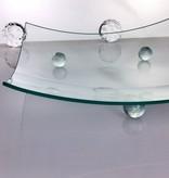 Glasteller   Klarglas  28,5 x 28,5 cm