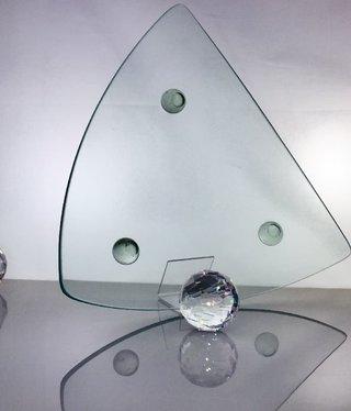Glass plate - 3 - angular 29 x 29cm