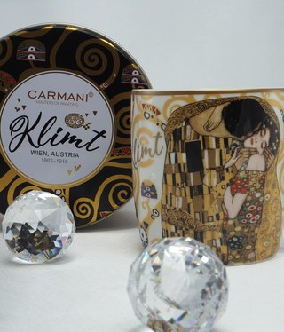 CARMANI - 1990 Gustav Klimt - Der Kuss - Kaffeetasse in Metallbox