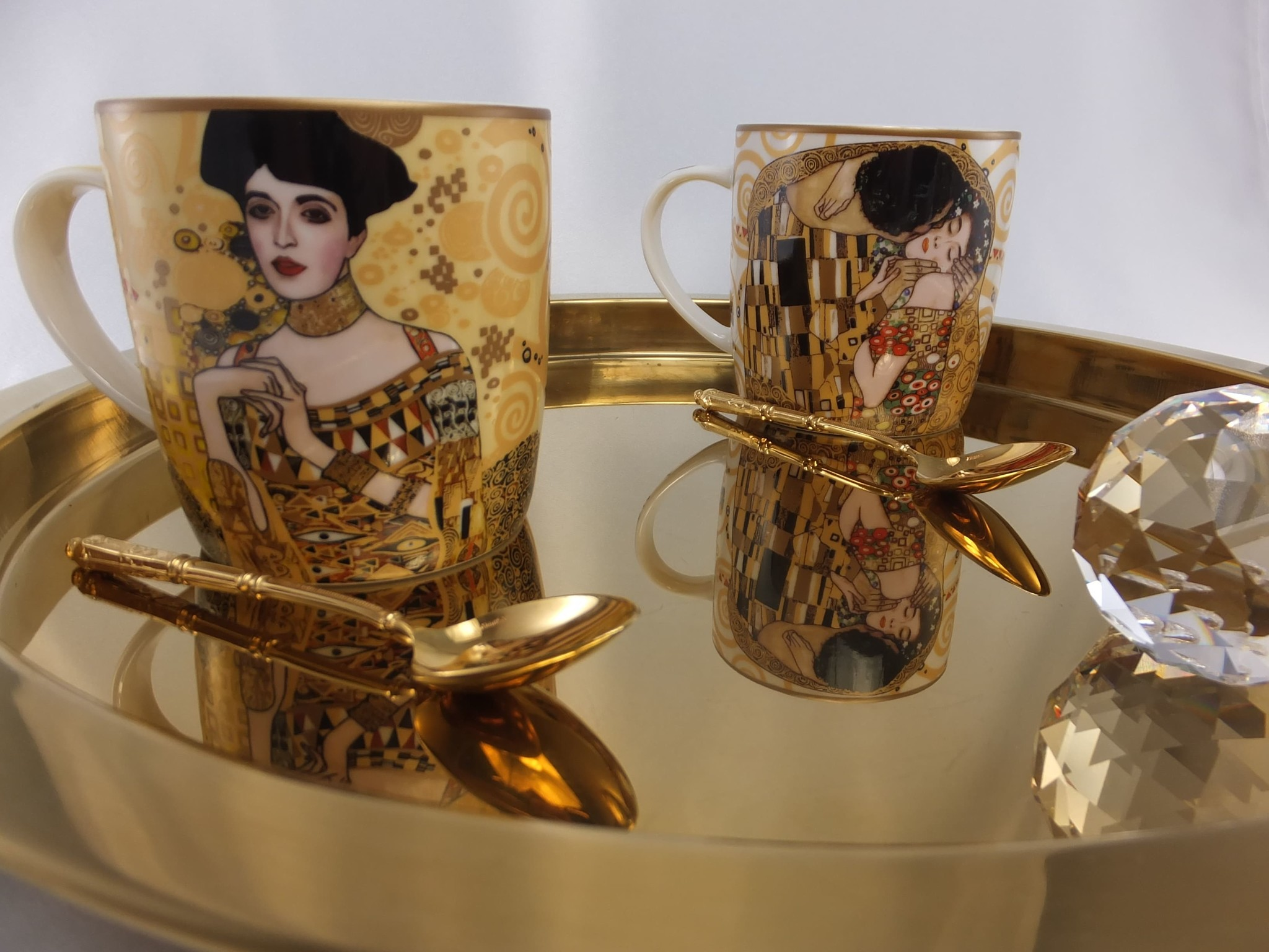 CARMANI - 1990 Gustav Klimt - Adele Bloch Bauer  - Kaffeetasse in Metallbox