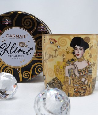 CARMANI - 1990 Gustav Klimt - Adele - Kaffeetasse in Metallbox