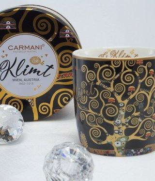 CARMANI - 1990 Gustav Klimt - Lebensbaum - Kaffeetasse in Metallbox