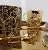 CARMANI - 1990 Gustav Klimt - Lebensbaum- Kaffeetasse aus Porzellan in Metallbox