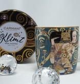 CARMANI - 1990 Gustav Klimt - Erwartung - Kaffeetasse aus Porzellan in Metallbox