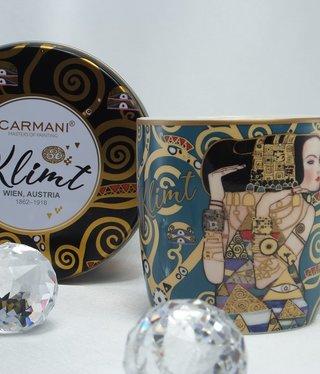 CARMANI - 1990 Gustav Klimt - Erwartung - Kaffeetasse in Metallbox