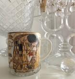 CARMANI - 1990 Gustav Klimt - Der Kuss - Kaffeetasse aus Porzellan in Metallbox