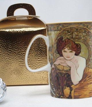CARMANI - 1990 Alfons Mucha - Emerald - coffee cup