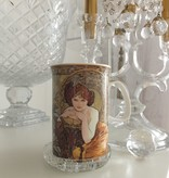 CARMANI - 1990 Alfons Mucha -  The Precious Stones  -Smaragd - Kaffeetasse