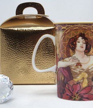 CARMANI - 1990 Alfons Mucha - Ruby - Coffee Cup