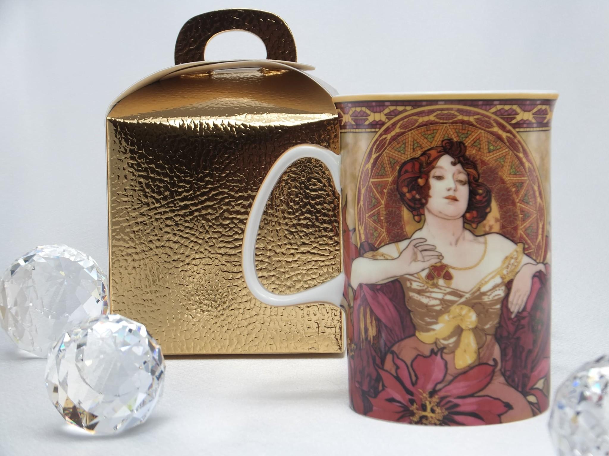 CARMANI - 1990 Alfons Mucha - The Precious Stones - Ruby - Coffee Cup