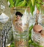 CARMANI - 1990 Gustav Klimt - glass - Adele Bloch Bauer - water glass / whiskey glass