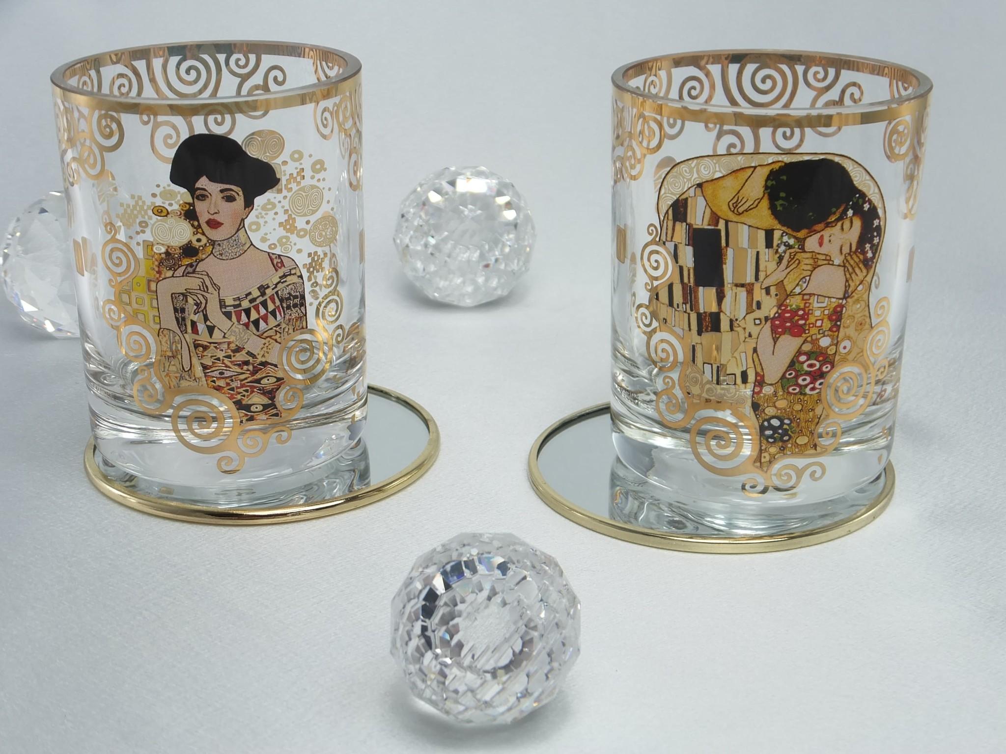 CARMANI - 1990 Gustav  Klimt - Glas - Der Kuss - Wasserglas /Whiskyglas