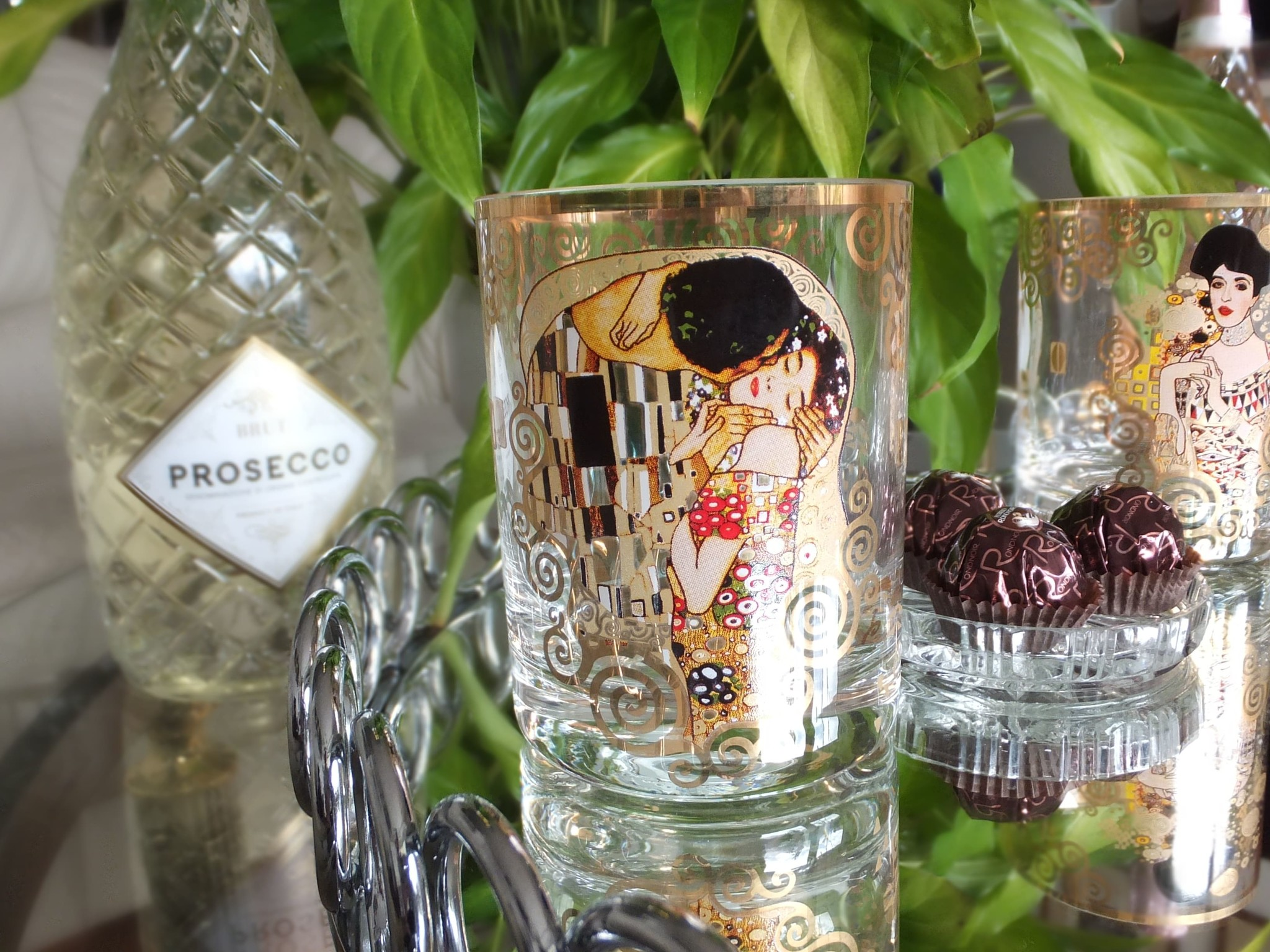 CARMANI - 1990 Gustav Klimt - Glass - The Kiss - Water Glass / Whiskey Glass