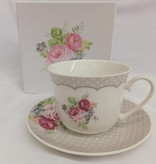 Dallas - stylish porcelain cup & saucer with border