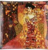 CARMANI - 1990 Gustav Klimt Adele Bloch Bauer glass plate -25 x 25 cm