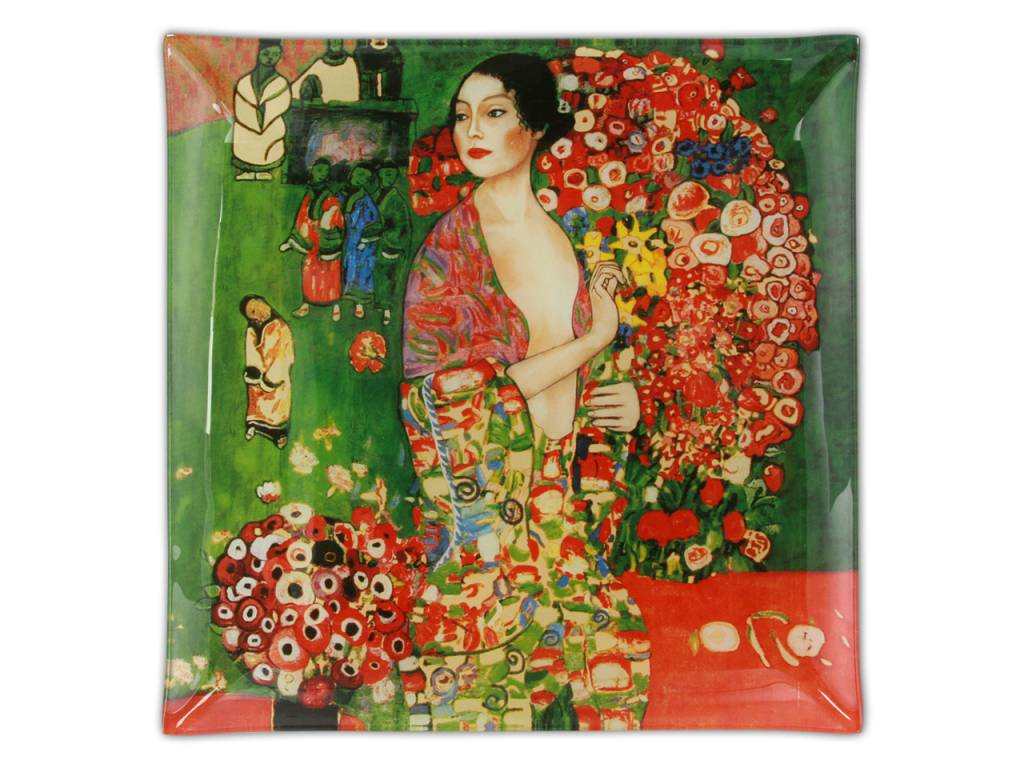 CARMANI - 1990 Gustav Klimt - The Dancer - Place plate - 25 x 25 cm