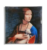CARMANI - 1990 Leonardo da Viinci - glass plate with the motif - lady with the ermine