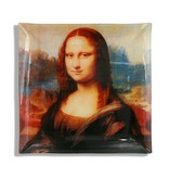 CARMANI - 1990 Leonardo da Vinci - Mona Lisa motif on small glass plate