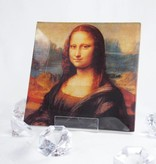 CARMANI - 1990 Leonardo da Vinci -  Mona Lisa Motiv auf kleinem Glasteller