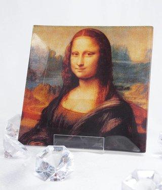 CARMANI - 1990 Leonardo da Vinci - glass plate 13 x 13 cm
