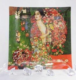 CARMANI - 1990 Gustav Klimt - Glass plate - 25 x 25 cm - The dancer