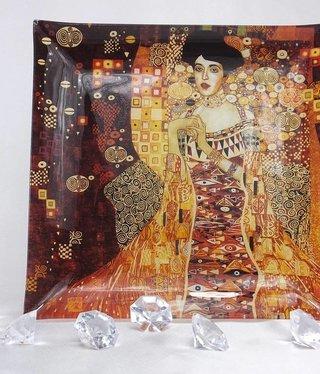 CARMANI - 1990 Gustav Klimt - Adele - glass plate - 25 x 25 cm