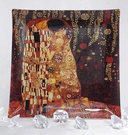 CARMANI - 1990 Gustav Klimt - Glass plate - 25 x 25 cm - The kiss