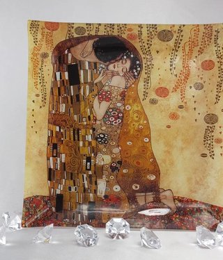 CARMANI - 1990 Gustav Klimt - Der  Kuss Platzteller  30 x 30 cm