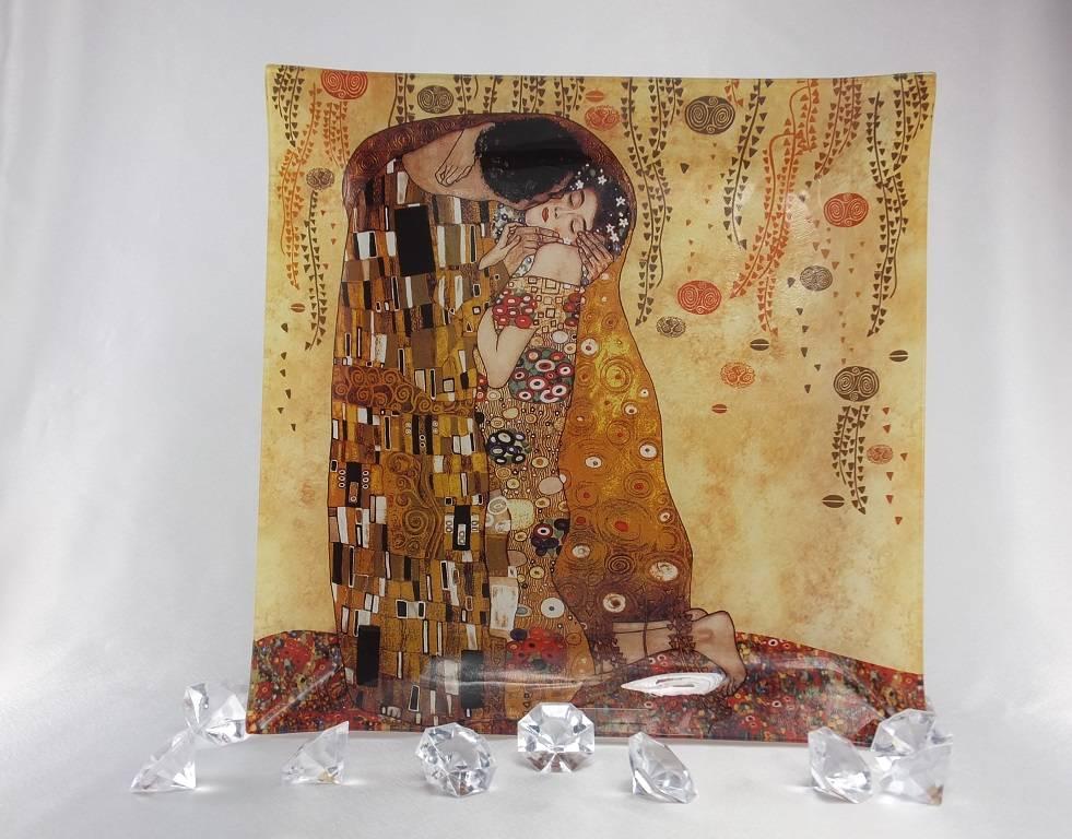 CARMANI - 1990 Gustav Klimt - The kiss bright - Place plate 30 x 30 cm