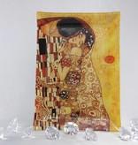 CARMANI - 1990 Gustav Klimt  Der Kuss hell  Glasplatte  28 x 20 cm