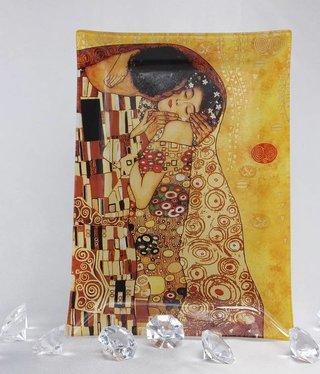 CARMANI - 1990 Gustav Klimt - glass plate 28 x 20 cm