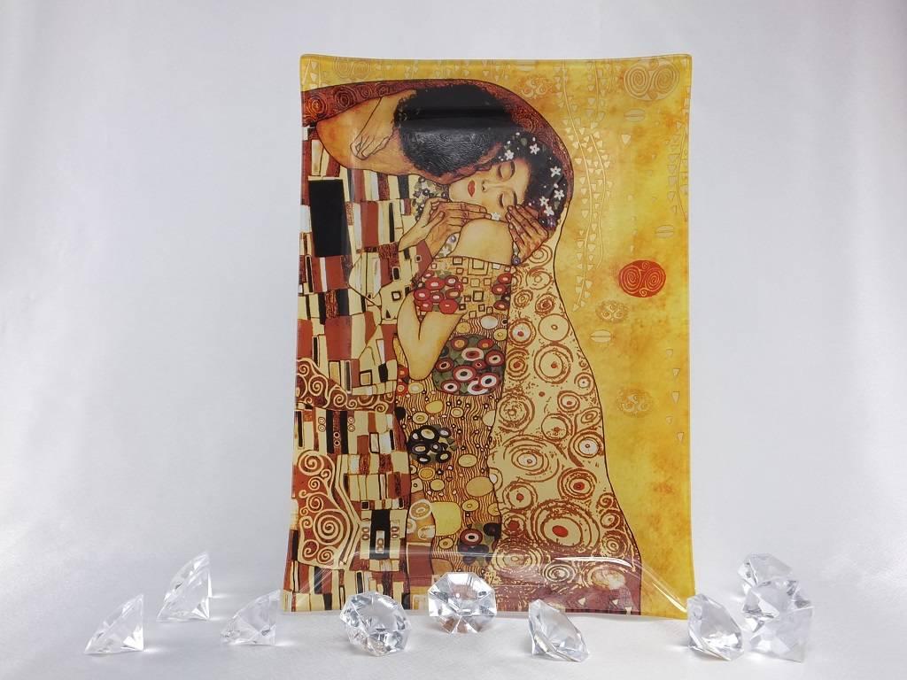 CARMANI - 1990 Gustav Klimt The kiss bright glass plate 28 x 20 cm